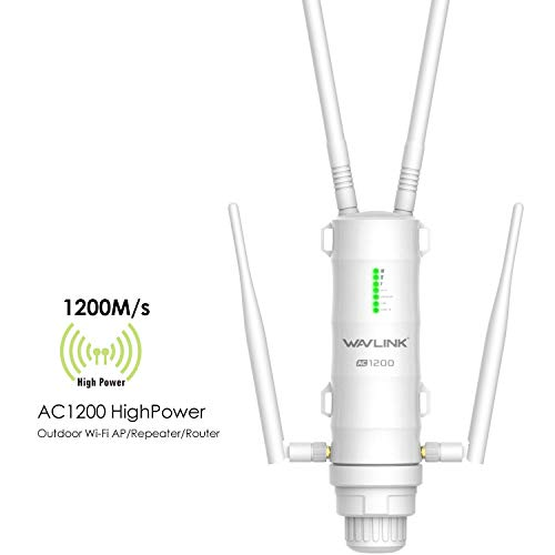 [Newest 2019]WAVLINK-WN572HG3-AC1200 High Power 802.11AC Dual Band 2.4+5G 1200Mbps Outdoor Wireless Access Point (AP)/Router/Repeater WiFi Blast Range Extender Internet Signal Booster Amplifier in PoE
