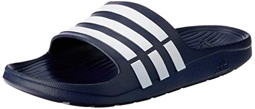 adidas Duramo Slide Chanclas Unisex adulto, Azul (New Navy/White/New Navy), 38 EU (5 UK)