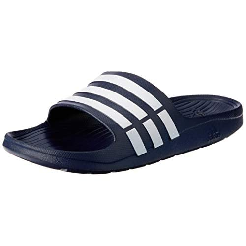 adidas Duramo Ciabatte da spiaggia e piscina Uomo, Blu (New Navy/White/New Navy), 44.5 EU (10 UK)