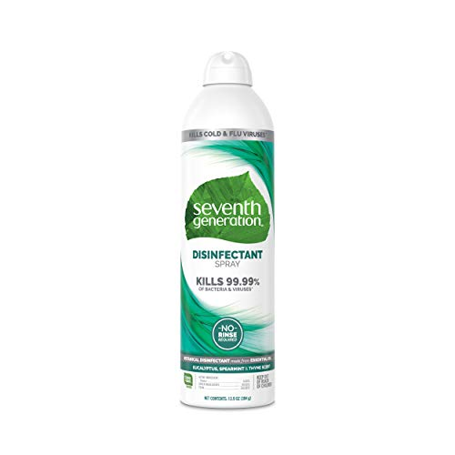 Seventh Generation Disinfectant Spray, Eucalyptus Spearmint & Thyme Scent, 13.9 oz, Pack of 4