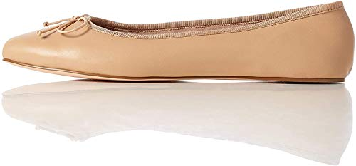 find. Leather Ballet Pump Ballerine, Beige), 41 EU