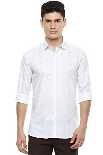 Van Heusen Men's Floral Slim fit Casual Shirt (VDSFESLFU15087_White 38)