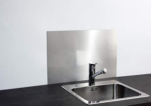 Paulus Spritzschutz Küchenrückwand Küche Wand Herd 60x40 cm Alu Verbund Silber gebürstet/Edelstahl-Optik