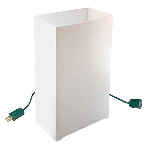 Lumabase 32010 10 Count Electric Luminaria Kit, White
