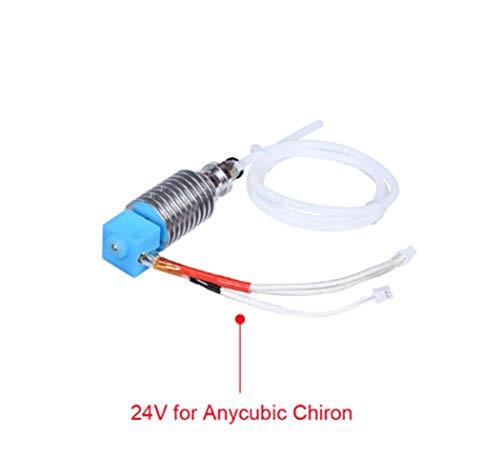 HUANRUOBAIHUO V5 J-Kit Cabeza Hotend for 1.75mm Filamentos Bowden Extrusora V5 Bloque Calentador 12 / 24V por I3 Mega/Partes de la Impresora 3D Chiron componentes extrusoras (Color : 24V All Kit)