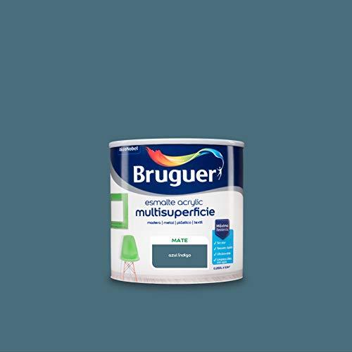 Bruguer Acrylic Multisuperficie Esmalte al agua Mate Azul Indigo 250 ml