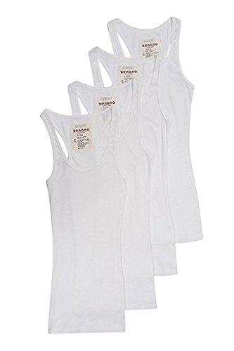 Trendyfriday Womens Must Have Essential Basic Ribbed Tank Tops (Small, White, White, White, White)