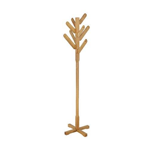 PIAOLING Perchero de pie Independiente Capa de Piso Creativo Rack Beech Solid Wood Ropa Soporte Piedra Abrigo Piedra Perchero Organizador de Perchero de pie