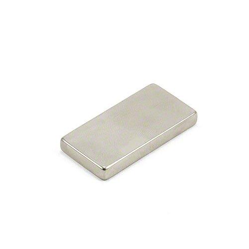 First4magnets F40205-N52-1 40 x 20 x 5mm Dicker N52-Neodym-Magnet stärksten Grades-15,1kg Anziehungskraft (1 St-Packung)