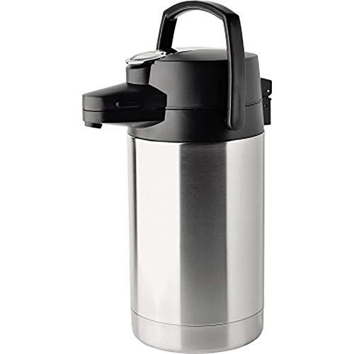 Helios Coffeestation Pump-Isolierkanne, Edelstahl, 2,5 Liter