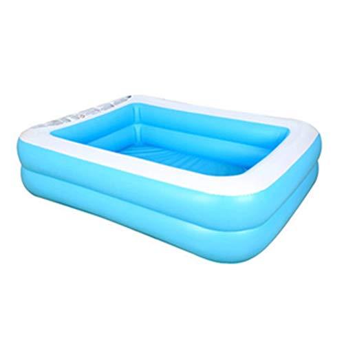 DFSDG Piscina inflable de verano piscina inflable de verano para adultos y niños engrosan adultos niños bañera rectangular de PVC grueso (tamaño : 155 x 108 x 46 cm/61.02 x 42.52 x 18.11)