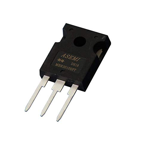 (Pack of 5pcs) ASEMI MBR30100PT Schottky Barrier Diode TO-247/3P Package 30A100V for Microwave