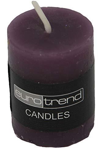 Kaheku Zylinder Kerze Aubergine Euro Trend Candles Durchmesser 3.8cm x 5cm
