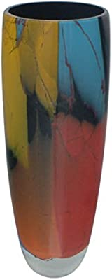 Badash Azure Murano Style Art Glass 6 inch Vase Badash Crystal J513