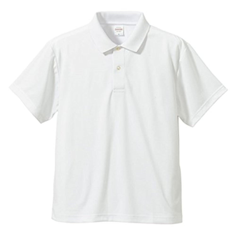 UVカット 吸汗速乾 同色5枚セット 3.8オンスさらさらドライポロシャツ ホワイト S ファッション トップス ポロシャツ その他のポロシャツ 14067381 [並行輸入品]