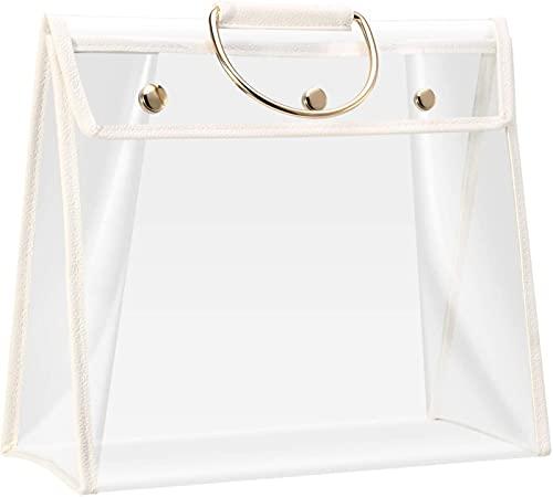 EFEG Handbag Storage, Transparent Anti-Dust Purse Storage Bag, Handbag Organizer Dust Cover Bag With Zipper And Handle, Dust-proof & Moisture-proof (A)