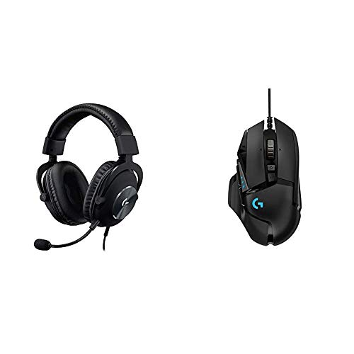 Logitech G Pro X Gaming Headset with Blue VO!CE Technology Bundle with Logitech G502 Hero High Performance Gaming Mouse
