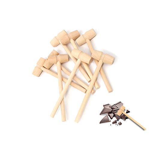 RUIYELE 30 Pcs Wooden Hammers for Chocolate, Mini Wooden Crab Lobster Mallet Hammer Mallet Mini Hammer Toy for Chocolate Seafood Shellfish