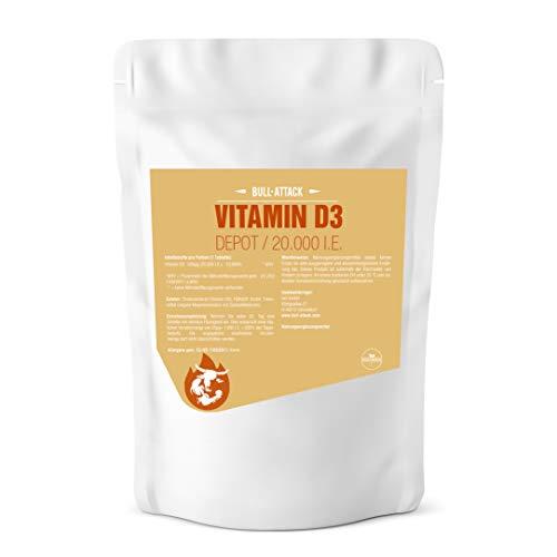 VITAMINA D3 20000 I.E. DEPOT - 360 tabletas veganas I Paquete de almacenamiento XL I Para el sistema inmunológico, los huesos, los dientes y el bienestar I Vitamina del sol D-3-1000 I.E. cada 20 días
