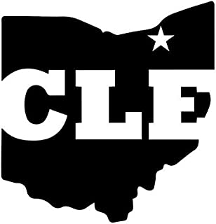 Cleveland Ohio State Map - Sticker Graphic - Auto, Wall, Laptop, Cell, Truck Sticker for Windows, Cars, Trucks