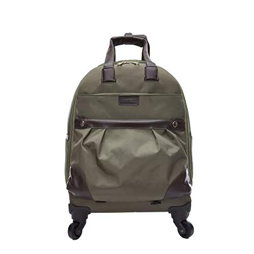 LYN&xxx Trolley Bag Luggage Suitcase 35 * 19 * 49Cm Multi-Functional Travel Backpack Lightweight Suitcases Retractable Handle Suitable for Travel,Green