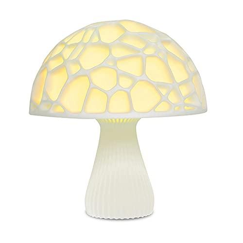 DIRIGIÓ Mushroom Night Light 16 Colors 3D Imprimir Nightstand Lámparas de mesa Modernas Decoraciones Escritorio Iluminación Iluminación con remoto para niños Bebé Regalos de cumpleaños Dormitorio Sala