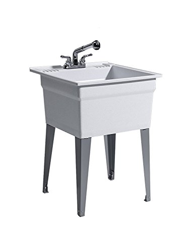 CASHEL 1960-32-22 Heavy Duty Sink - Fully Loaded Sink Kit, Steel Leg, Granite