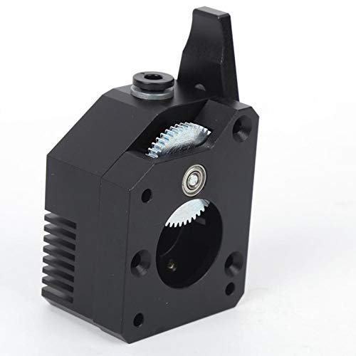 High Performance with 1 Set Installation Kits 3D Printer Extruder Extruder 3D Printer Gear Extruder Dual Feed Black for DIY 3D Printer kit
