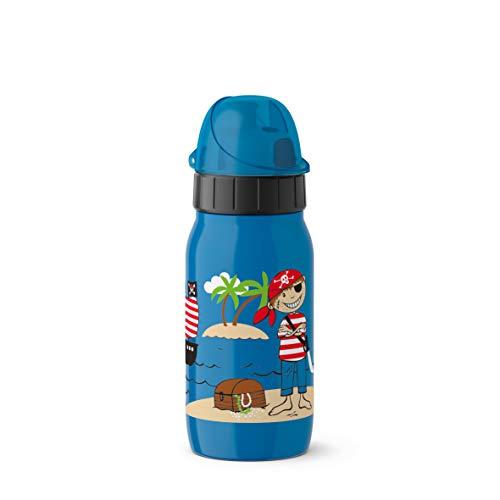 Emsa Iso2Go 518372 Isolierte Trinkflasche, 0,35 Liter, AutoClose Verschluss, Pirate