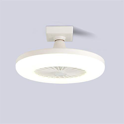 Eookall E27-Lampen-Halter-Ventilator-Licht Moderne LED-Deckenventilator Licht unsichtbare Silent Fan Haushalt für Schlafzimmer Wohnzimmer Esszimmer Deckenleuchte