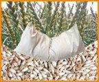 Cojín de espelta bio, 40 x 80 cm, color blanco