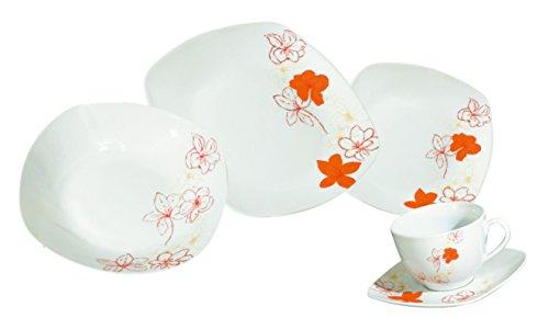 Arte Viva 111603 Tosca Servizio da tavolo e da tè, 30 pezzi, porcellana, ad angoli, Design by Emilio Bilinn