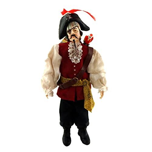 Melody Jane Poupées Miniature Falcon Pirate Personnage 1:12 People Polyrésine Man Figurine