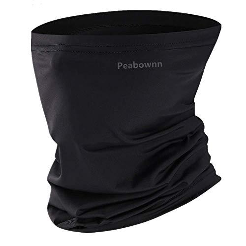 ネックガード フェイスカバー ネックカバー バンダナ 冷感 夏 UVカット 吸汗速乾 日よけ 防風 多機能 黒い1枚