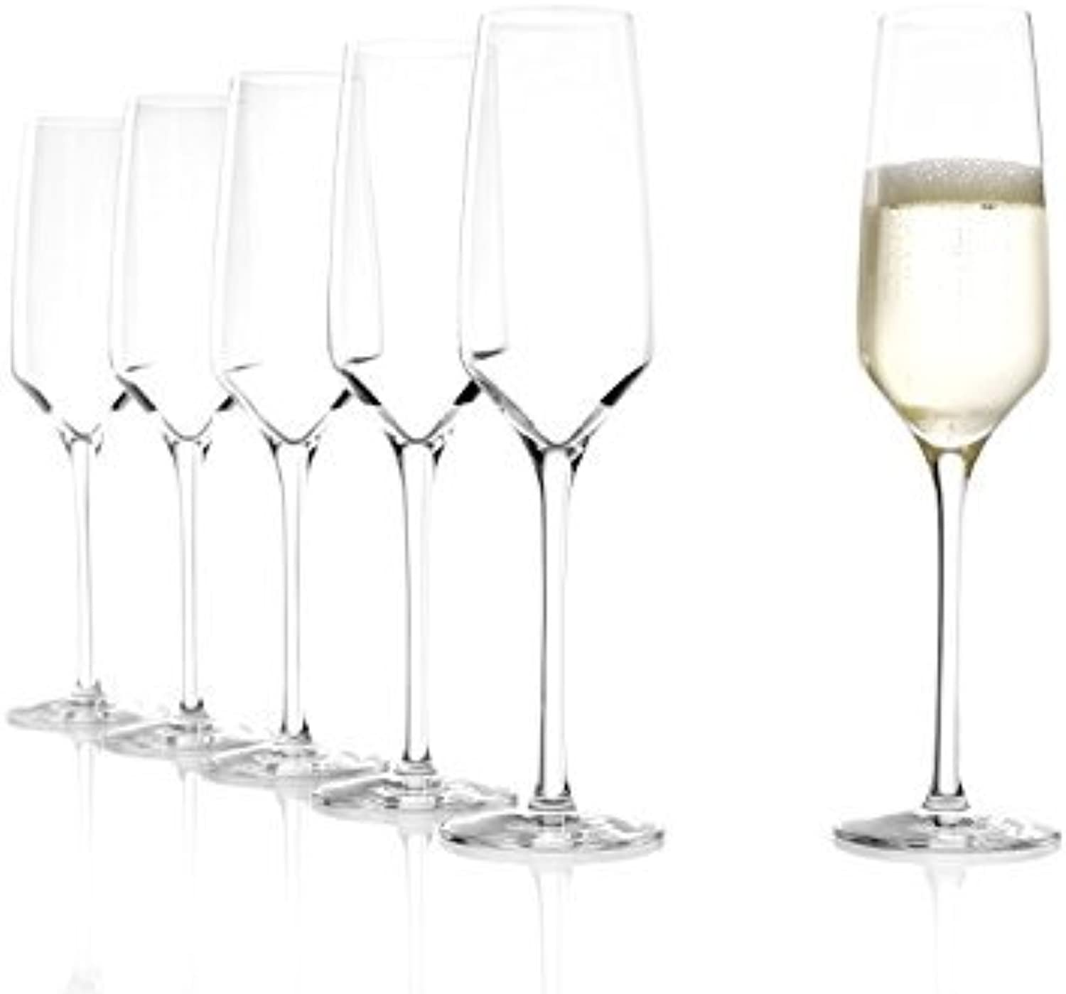Stolzle Experience Flute Champagne Glasses, set of 6