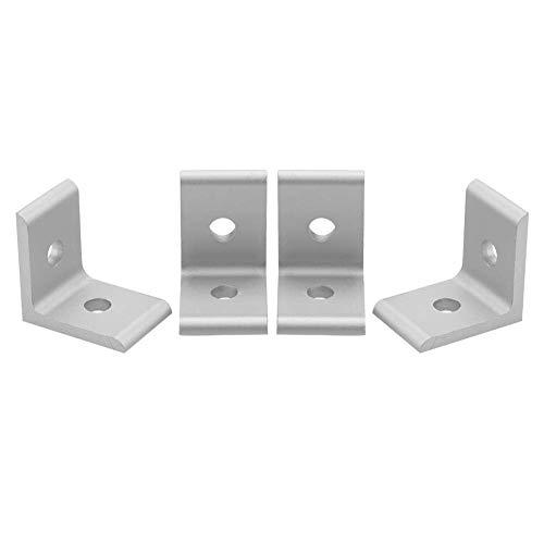 Escuadra L, 1515 2020 3030 4040 4545 conector Escuadra para perfil de aluminio (Plata 2020A)