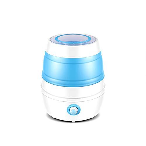 NEHARO Mini Lavadora Lavadora Plegable Pequeño Dormitorio doméstico Portátil Portátil Ropa Interior y Calcetines Mini Lavadora para Dormitorio Individual (Color : Blue, Size : 38x38x43cm)