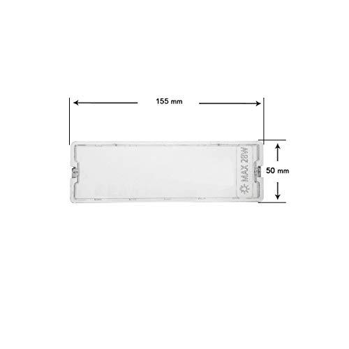 Lampenabdeckung für Dunstabzugshaube Fagor Edesa Aspes 50 x 155 mm af2647 KE0001537
