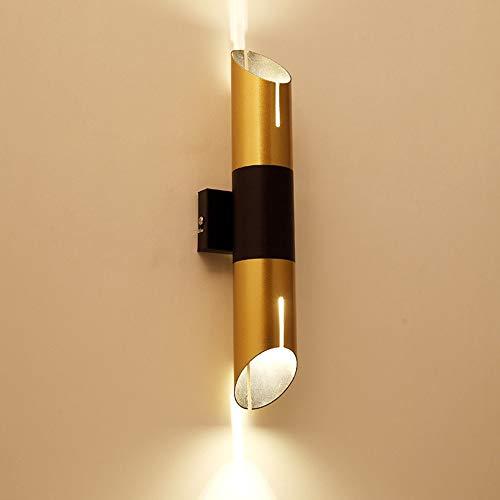 BQYY LED Lámpara de pared Moderna Interior Aluminio ApliquesdeParedpara Dormitorio Interruptor Pulsador Botón Downlighter Luz seguridad Escalera Cocina Lavadero Pasillo Armario Luminaria Inoxidable