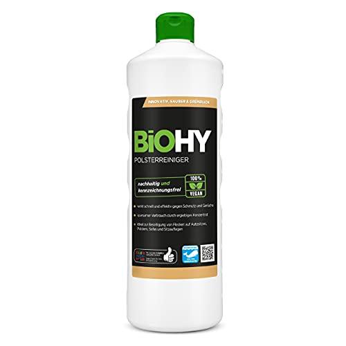 BiOHY Spezial Polsterreiniger (1l Flasche) | Geruchsentferner und Fleckenentferner | Allzweckwaffe im Haushalt | Ebenfalls für Waschsauger geeignet, Sofas, Matratzen