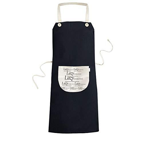Betekenis Van Luie Grappige Citaat Koken Keuken Zwarte Bib Schorten Met Pocket voor Vrouwen Mannen Chef Geschenken