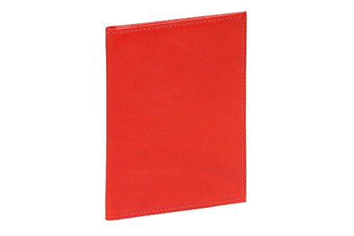 LEAS ID-kaartmap- & -hoes met 2 kijkvensters echt leer, rood Card-Collection