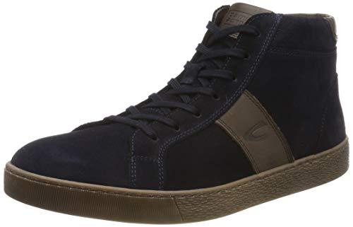 camel active Herren Tonic 13 Hohe Sneaker, Blau (Midnight/Mocca 1), 39 EU