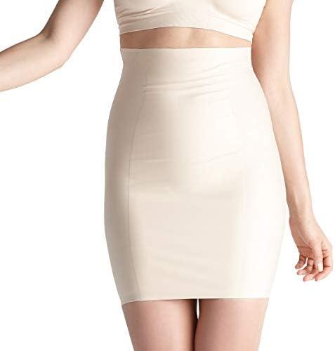 Yummie Women s Hidden Curve High Waist Firm Control Shapewear Skirt Slip Frappe Large product image