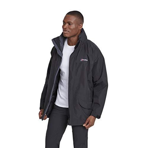 Berghaus Men's Cornice Interactive Waterpoof Jacket, Black, Large