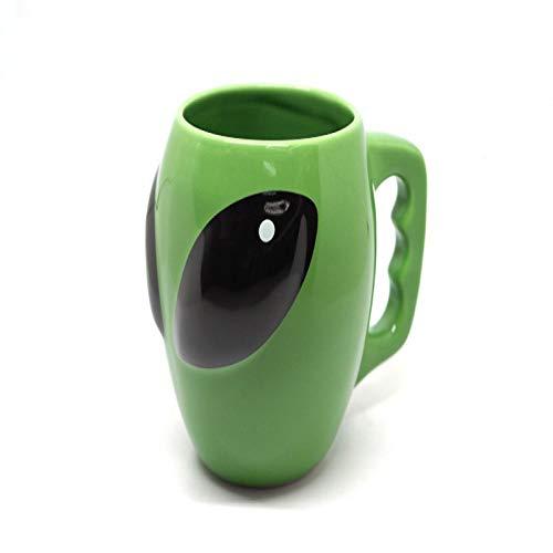 DZHTWSRYGR Tazas Taza de café alienígena Creativa Taza de cerámica Personalidad Taza de té Divertida Juego de té Regalo