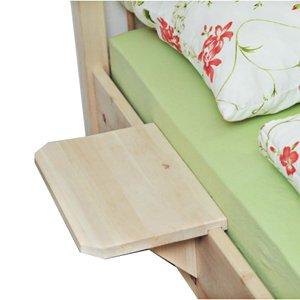 4betterdays.com NATURlich leben! Flexible Konsole als Nachttisch oder Ablagebrett 40x25cm Zirbenholz