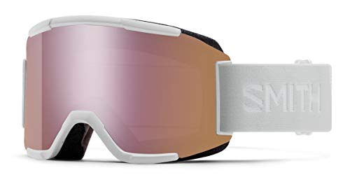Smith Optics Squad Ski- Snowboardbrille White Vapor - Chromapop Everyday Rose Gold Mirror