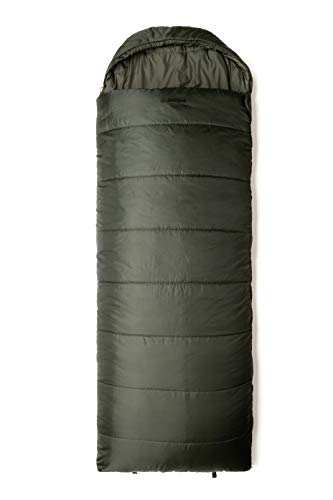 Snugpak Basecamp Ops Navigator Sleeping Bag with Compression Stuff Sack, Right Hand Zip, Olive