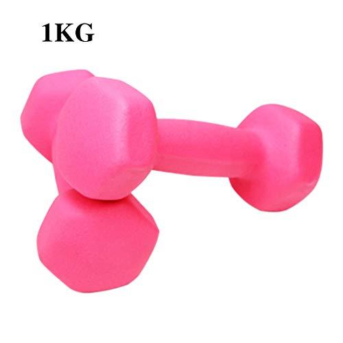Zoey's store - Manubrio in neoprene da 0,5 kg, 1 kg/1,5 kg, per esercizi a casa, fitness, muscoli, manubri da pilates, rosa, 1X0.5KG